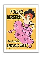 フォーリー・ベルジェール - パリ、フランス - 毎晩様々なショー - によって作成された リオネト・カピエロ c.1900 -プレミアム290gsmジークレーアートプリント - 46cm x 61cm