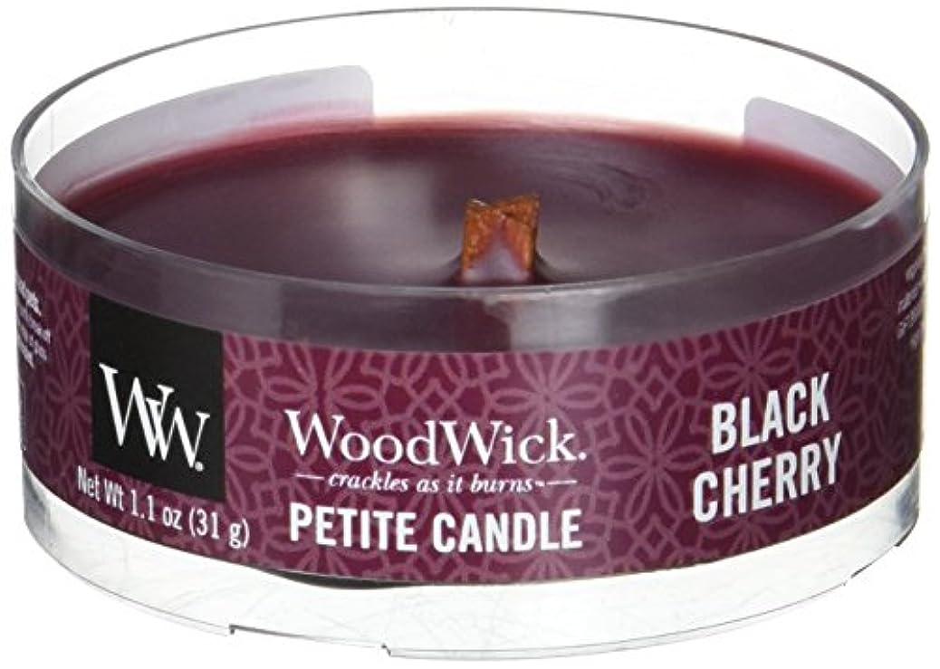 提供された離れて脇にWood Wick ウッドウィック プチキャンドル ブラックチェリー