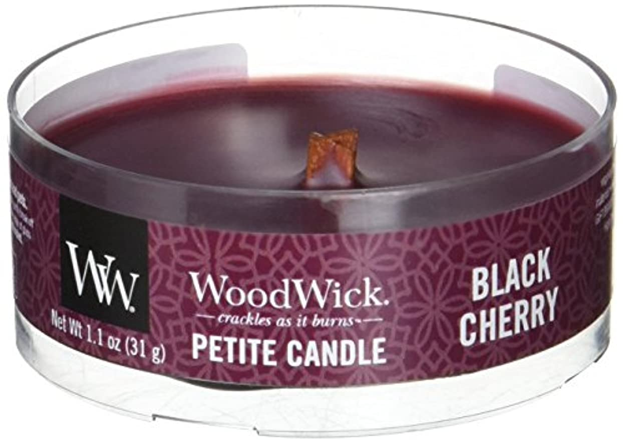 消去リングバックお誕生日Wood Wick ウッドウィック プチキャンドル ブラックチェリー