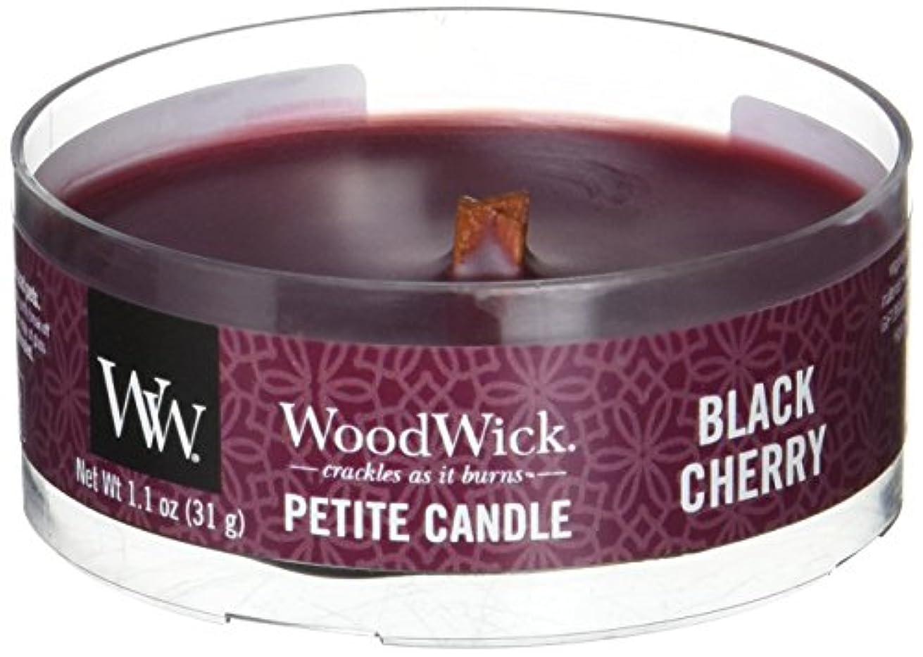 しかし困難封建Wood Wick ウッドウィック プチキャンドル ブラックチェリー