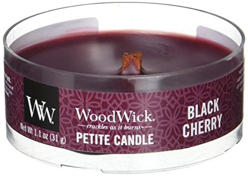 スカート剛性義務的Wood Wick ウッドウィック プチキャンドル ブラックチェリー