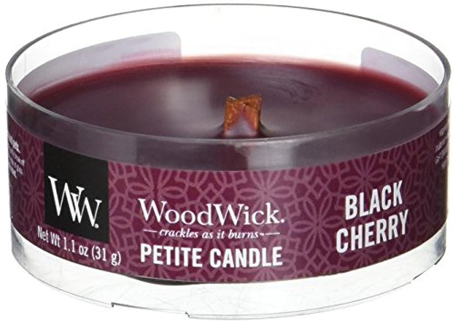 手のひら取り出す要求するWood Wick ウッドウィック プチキャンドル ブラックチェリー