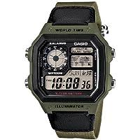 Casio Men's AE1200WHB-3BV 10 Year Battery Watch