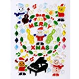 【クリスマス装飾デコレーション】ジェルギャラリー ミュージックA2(1個)  / お楽しみグッズ(紙風船)付きセット