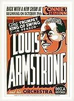 ポスター ルイ アームストロング ルイ アームストロング - Connie\'s Inn NYC、 1935 - 額装品 ウッドベーシックフレーム(ホワイト)