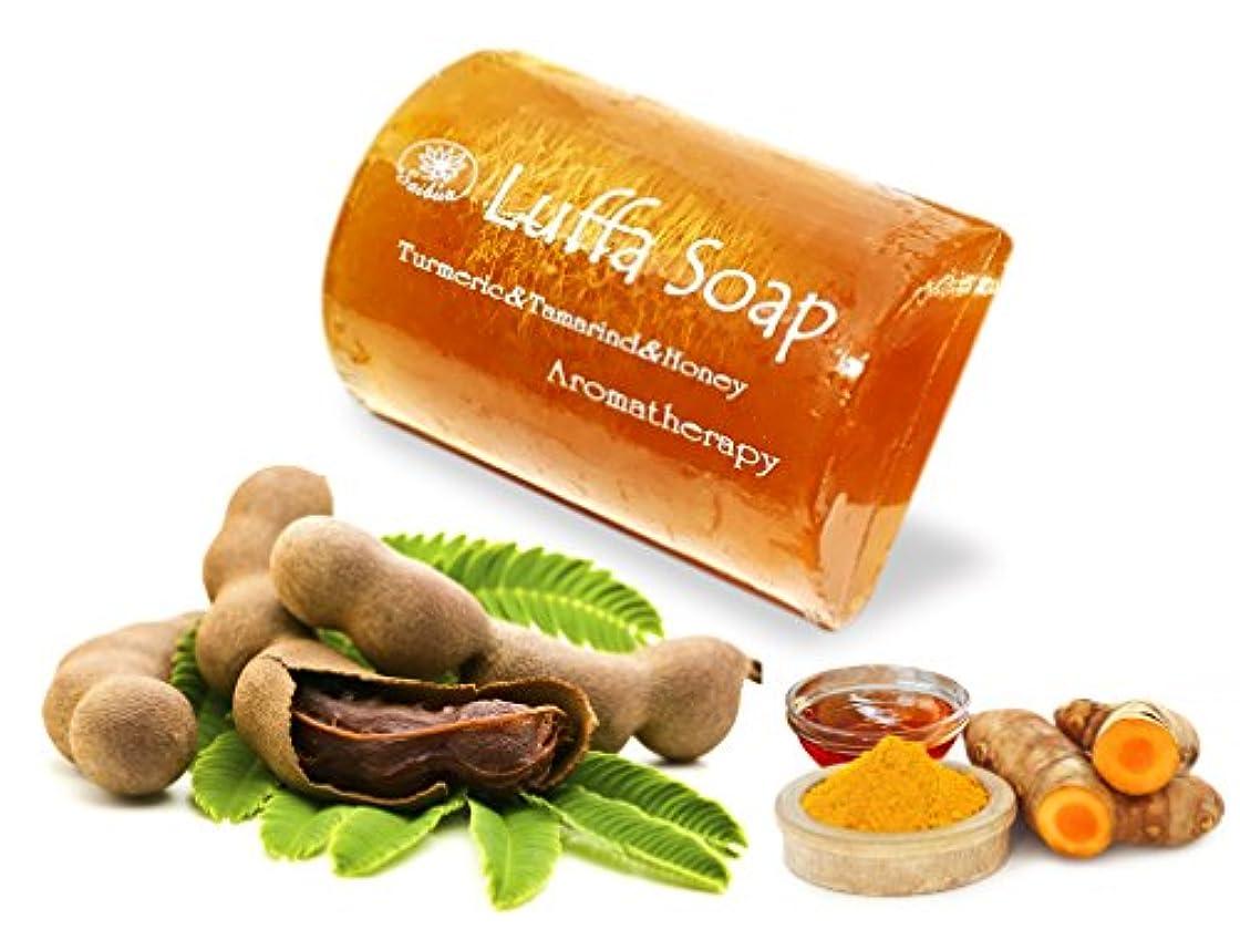 連帯遅滞商標Mangos Teen. Tamarind Soap Turmeric Honey Luffa Saibia Soap Aroma Scrub Herbal Relaxing After Work Sport Middle...