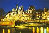 300ピース ジグソーパズル Simple Style 夜のパリ市庁舎 (26x38cm)