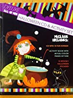 VARIOUS - Deluxe all-in-one Halloween CD & Activity Set 48 p Book + 18 Spooky Stickers (1 CD)