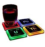 放射性元素の化学コースターセット
