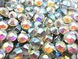 【ラインストーン77】 超高級 ガラス製ラインストーン SS4?SS30 オーロラクリスタル スワロフスキー同等 (4.7mm (SS20) 約120粒)