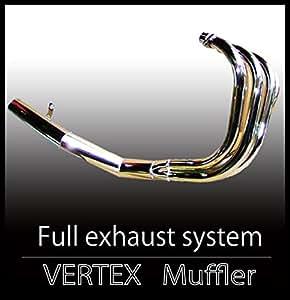 ゼファー400/χ ゼファー 400 マフラー ショート管 メッキ バーテックス