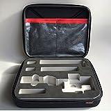 MaxKu DJI Osmo Mobile 2 ケース スリム 収納バッグ ハードポーチ 防水 防衝撃 防塵 携帯便利 バッテリ収納 Osmo Mobile 2 3軸手持ちジンバル 専用保護ケース (ブラック)