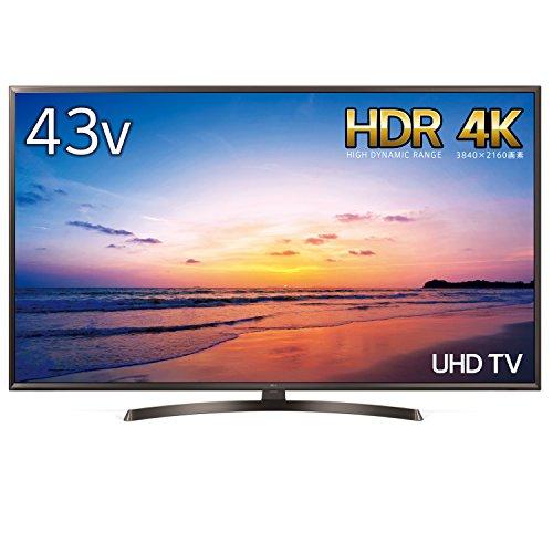 LG 43V型 液晶 テレビ 43UK6300PJF 4K HDR対応 直下型LED 2018年モデル
