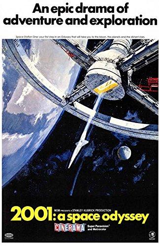 小ポスター、米国版「2001年宇宙の旅」キューブリック