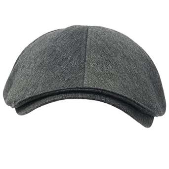 (イリリリー)ililily 綿 コットン フラットキャップ キャビーハット ギャツビー アイビーキャップ アイリッシュ ハンチング帽 ニュースボーイ (X-Large (7 5/8), XL-Grey)