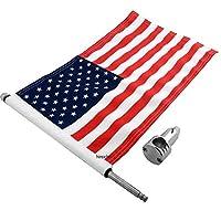 プロパッド PRO PAD 旗取付け 7/8インチ(22mm) バー用 10インチ(254mm)x15インチ(381mm) USA旗付き 0521-0025 RFM-FXD215