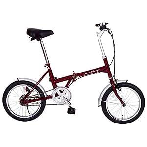 Classic Mimugo 自転車 FDB16 16インチ 折畳 折り畳み 折畳自転車 (クラシックレッド ) mg-cm16-rd