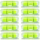 6Pcs/Set Small Bubble Level Frame Mural Hanging 10x10x29mm Mini Square Spirit Level Picture Hanging Levels Mark Measuring Ins