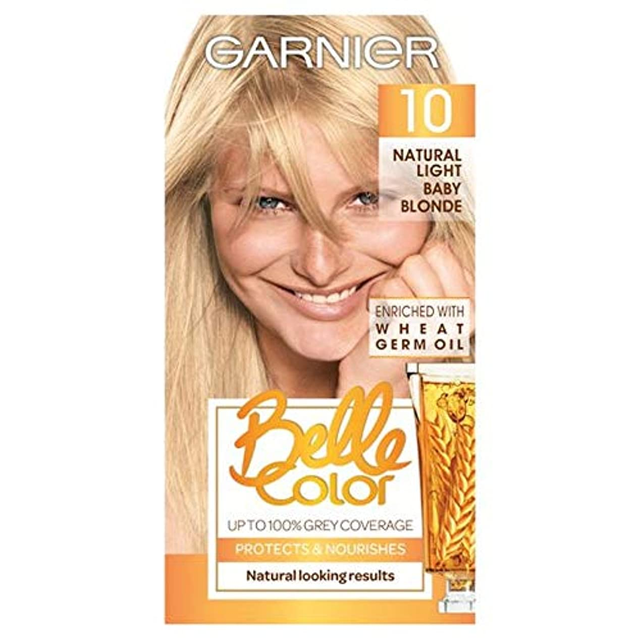 繊毛フットボールネコ[Belle Color ] ガーン/ベル/Clr 10自然光の赤ちゃんブロンドパーマネントヘアダイ - Garn/Bel/Clr 10 Natural Light Baby Blonde Permanent Hair...