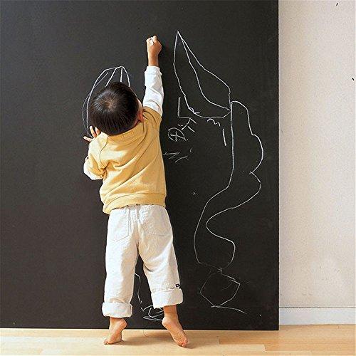 CUSFULL 壁に貼って剥がせる ブラックボードシート ウォール ステッカー お絵かき 子供部屋 会議室 オフィス メモ用 (0.9X2M)