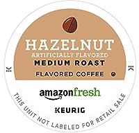 AmazonFresh 80 Ct。コーヒーKカップ、ヘーゼルナッツ風味ミディアムロースト、Keurig Brewer
