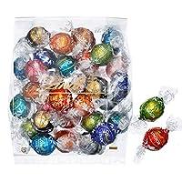 リンツ (Lindt) チョコレート リンドール 10種類アソート 詰め合わせ [Bタイプ] 個包装 30個入り (ミニリーフレット付き)