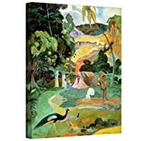 ArtWall 'Matamoe, Landscape with Peacocks' Gallery-Wrapped Canvas Artwork by Paul Gauguin, 48 by 36-Inch [並行輸入品]