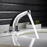 自動センサーの蛇口 クロムめっき 洗面台 流し台用 カバープレート装備 浴室 トイレ用 単一冷たい水