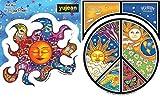 Dan Morrisステッカーバンドル: One Peaceシンボルステッカーand 1Sleeping Sunステッカー - 10,084 円