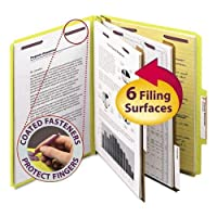 SMD14034 - Smead 14034 Yellow Colored Pressboard Classification Folders with SafeSHIELD Fasteners by Smead
