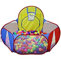 Thee Children 's Ball with aバスケットボールNet Play折りたたみ式おもちゃインドアアウトドア使用