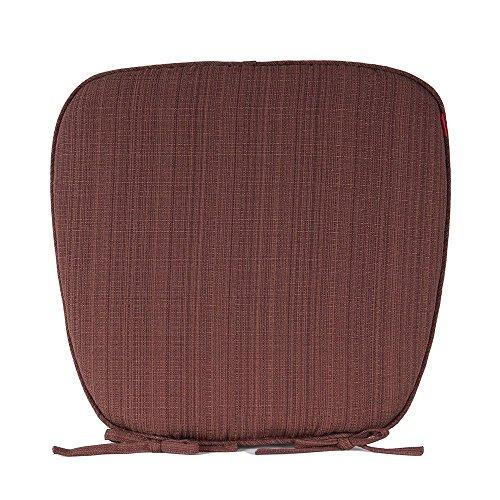 Shinnwa( シンワ)縞模様 シートクッション 無地 バテイクッション 座布団 43*41cm*3cm ブラウン 4枚組