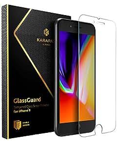 Anker KARAPAX GlassGuard iPhone 8/7 用 強化ガラス液晶保護フィルム【3D Touch対応/硬度9H/飛散防止】