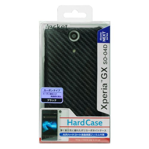 iJacket docomo Xperia GX SO-04D 専用ポリカーボネイトハードケース カーボンブラック PG-SO04D16CBK PG-SO04D16CBK