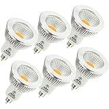LED電球 口金E11 調光器対応 LEDスポットライト 50W形相当 ハロゲン電球 広角タイプ (6個, 電球色)