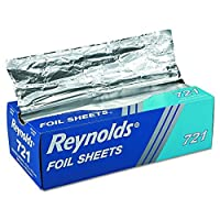 "Reynolds 721 12"" Length x 10-3/4"" Width,Plain InterFolded Foil Sheet (6 Packs of 500 sheets) [並行輸入品]"