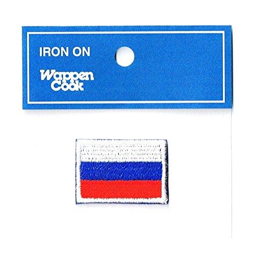 刺繍ワッペン国旗エンブレム ロシア国旗 NO-342 (SS約2.4cmx3.3cm)