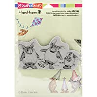 "Stampendous HappyHopper Cling Rubber Stamp 5.5""X4.5"" Sheet-Easter Hares (並行輸入品)"