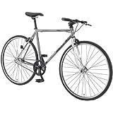 WACHSEN(ヴァクセン) 700x28C クロモリ シングルスピードバイク【エントリーモデル】 48Tチェーンホイール 11.5kg LEDライト/ロングワイヤー錠付 Fix One BSS-701