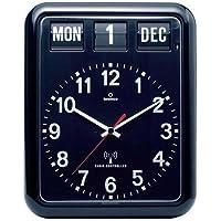 TWEMCO (トゥエンコ) 電波掛け時計 パーペチュアルカレンダー機能 RC-12A Black