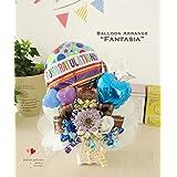 リニューアルしてお値段そのままバルーンとお花が増えました!卓上バルーン「ファンタジア」誕生日や結婚式、発表会、開店周年のお祝いに!