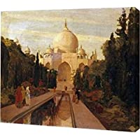 The Taj Mahal by Valentine Cameron Prinsep – ギャラリーWrapped Gicleeキャンバスアートプリント – Ready To Hang 21