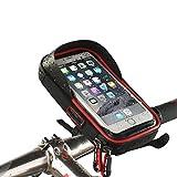 Future Founder 自転車ホルダー iPhone などの多機種に対応 360度回転 スマートフォン用ホルダー 6.0インチ以下の機種対応 防水 小物収納付き 雨よけ