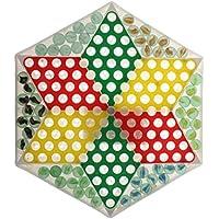 Kesoto ダイヤモンドゲーム プラスチック チェス盤 大理石 チェスピース 楽しいゲーム おもちゃ