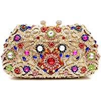 Clutch Bag for Women Colorful Sequins Evening Bag Purse Clutches for Party Prom Wedding,Gold,18 * 11 * 6.5cm