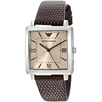 Emporio Armani Brown Stainless Steel & Leather Watch AR11099