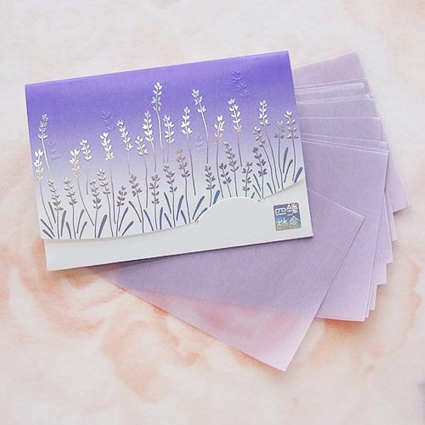 刺繍刺繍病気鎌倉四葩のあぶらとり紙 きらめき香りラベンダー 短冊サイズ 20枚入