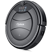 Clymen Q7 Robot Vacuum Cleaner, a Self-Charging Robotic Vacuum Cleaner for Pets, Suitable for Carpets, Tiles and Hardwood Floors, Removes Hair, Fur and Dirt, Black