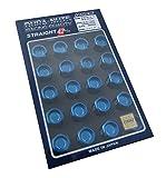 【RAYS(レイズ)】 ジュラルミンロック&ナットセット L42 ストレートタイプ M12×1.5 ブルーアルマイト 74020001002BL
