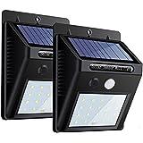 感应灯户外 ZEEFO 20LED 太阳能人体感应灯太阳能节能3种模式智能监控玄关灯外灯户外照明停车场 / 庭先房檐2件套